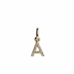"Letter Pendant ""A"" with Diamonds, 18-karätigem Gold"