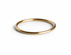 Simple Ring, vergoldetem Sterlingsilber
