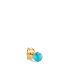 Splash Bead Stud Turquoise, vergoldetem Silber