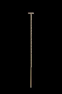 Kettenohrring mit Kugelreihe aus Brillanten