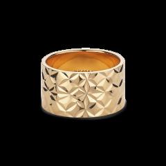 Large Reflection ring, vergoldetem Sterlingsilber