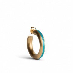 Chunky Hoop mit Emaille, petroleum