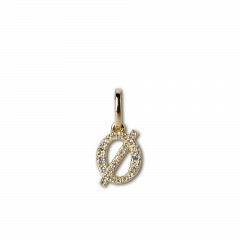 "Letter Pendant with Diamonds ""Ø"", 18 carat gold"
