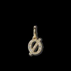 "Letter Pendant with Diamonds ""Ø"", 18 carat gold"