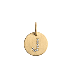 Lovetag Pendant with Diamonds, 18 Karat Gold