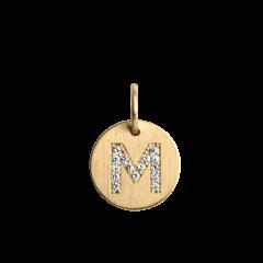 """Lovetag Anhänger """"M"""" mit Brillanten, 18 Karat Gold"""