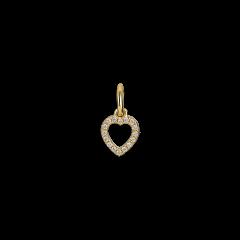 Letter Pendant with diamonds Heart, 18-karätigem Gold, 0.032 ct Diamant