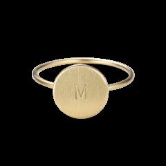 Medium Lovetag Ring, 18 Karat Gold