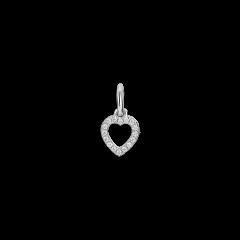 Letter Pendant with diamonds Heart, 18-karätigem Weißgold, 0.032 ct Diamant