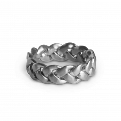 Big Braided Ring, Sterlingsilber