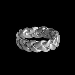 Big Braided Ring, Sterlingsilber