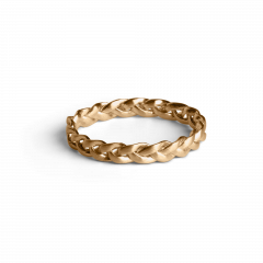 Small Braided Ring, vergoldetem Sterlingsilber