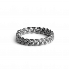Medium Braided Ring, Sterlingsilber