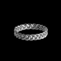 Medium Braided Ring, Sterlingsilber