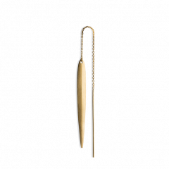 Kettenohrring mit einem langen Blatt