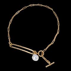 Salon Pearl Halskette, vergoldetem Sterlingsilber