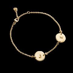 Lovetag Armband mit 2 Tags, vergoldetem Sterlingsilber