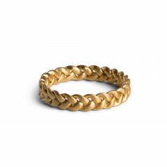 Medium Braided Ring, vergoldetem Sterlingsilber