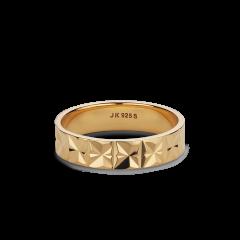 Medium Reflection ring, vergoldetem Sterlingsilber