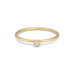 Princess ring, 18 Karat Gold, 0.05 ct Diamanten, Kugelhalterung