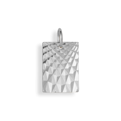 Reflection Square pendant, Sterlingsilber