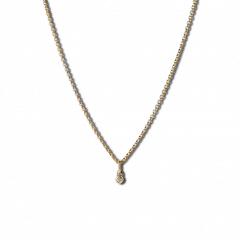 Combination of an Anchor Chain and Diamond Pendant, gold-plated sterling silver